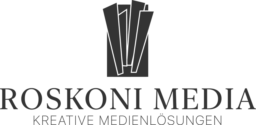 Roskoni Media Logo Black PNG