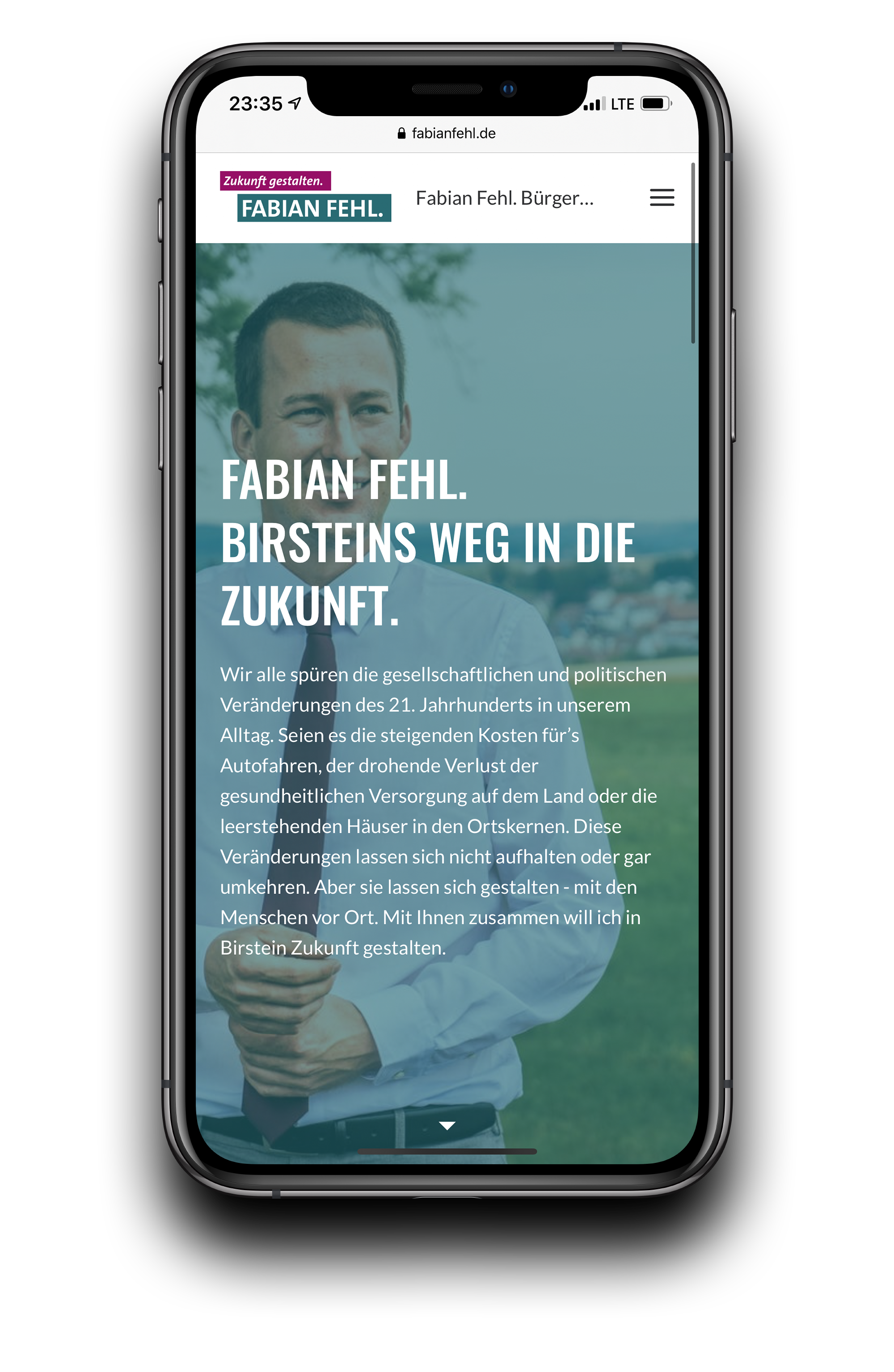 Roskoni Media Fabian Fehl Website Mockup iPhone 11 Pro